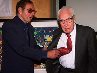Bill Hanna, right, and Joseph Barbera